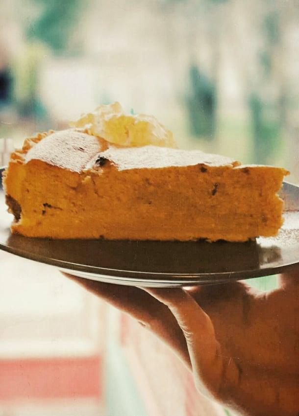 Pumpkin wannabe cheesecake