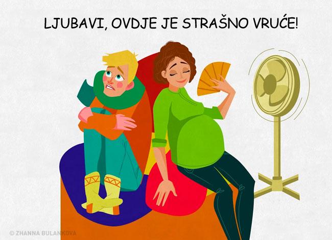 Ovih 12 ilustracija će savršeno razumijeti sve žene koje su bile trudne